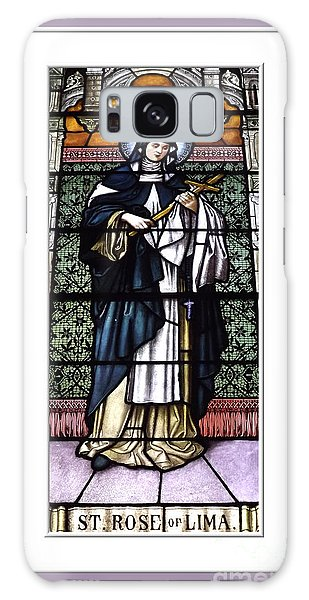 Galaxy Case featuring the photograph Saint Rose Of Lima Stained Glass Window by Rose Santuci-Sofranko
