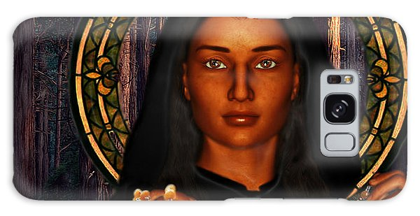 Saint Tekakwitha The Lily Of The Mohawks Galaxy Case by Suzanne Silvir