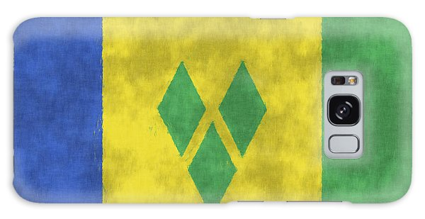 Bahamas Galaxy Case - Saint Vincent And The Grenadines Flag by World Art Prints And Designs