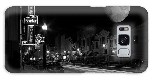 Salem Ohio Winter Moon Galaxy Case