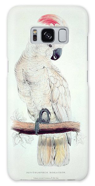 Salmon Crested Cockatoo Galaxy Case by Edward Lear