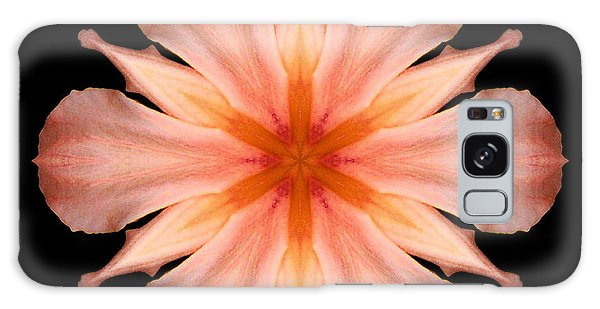 Salmon Daylily I Flower Mandala Galaxy Case