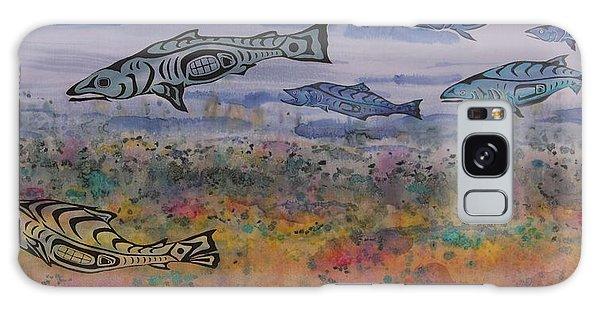 Salmon In The Stream Galaxy Case by Carolyn Doe
