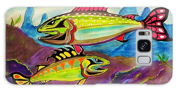Salmon Of Colour Galaxy Case by Al Fritz