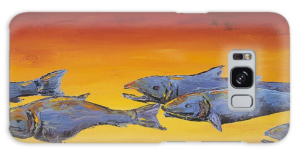 Salmon Sunrise Galaxy Case by Carolyn Doe