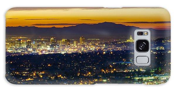 Salt Lake City At Dusk Galaxy Case by James Udall