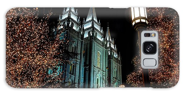Salt Lake City Mormon Temple Christmas Lights Galaxy Case