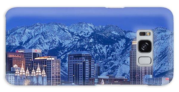 Salt Lake City Skyline Galaxy Case by Brian Jannsen