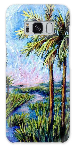 Salt Marsh Palms Galaxy Case