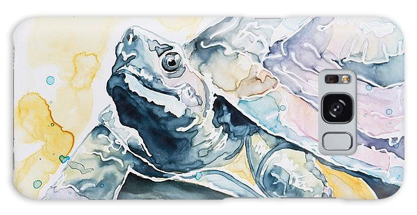 Watercolor Pet Portraits Galaxy Case - Sammy The Turtle by Shaina Stinard