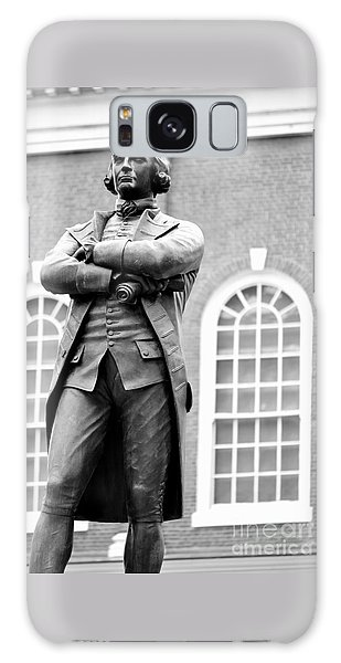 Samuel Adams Statue State House Boston Ma Black And White Galaxy Case