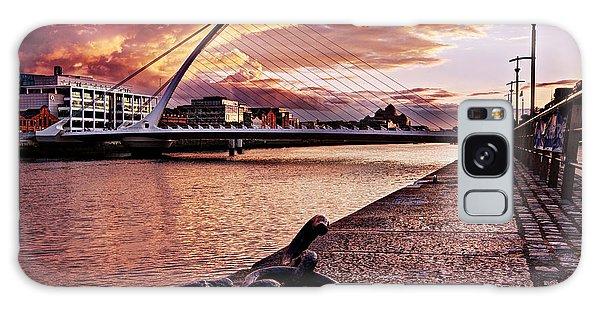 Galaxy Case featuring the photograph Samuel Beckett Bridge At Dusk - Dublin by Barry O Carroll