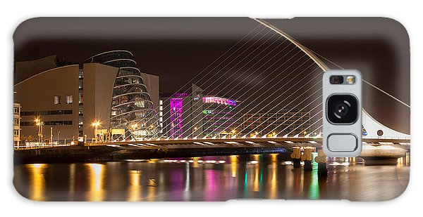 Samuel Beckett Bridge In Dublin City Galaxy Case by Semmick Photo
