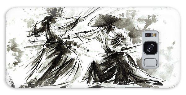 Samurai Sword Bushido Katana Martial Arts Budo Sumi-e Original Ink Painting Artwork Galaxy Case