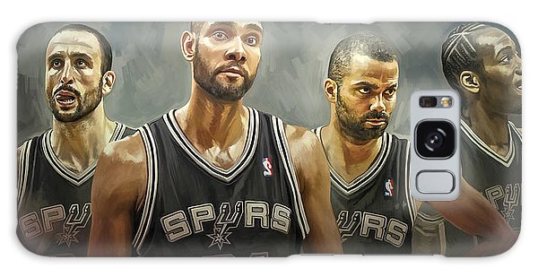 Basketball Galaxy Case - San Antonio Spurs Artwork by Sheraz A