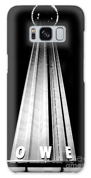 San Antonio Tower Of The Americas Hemisfair Park Space Needle Tower Restaurant Black And White Galaxy Case