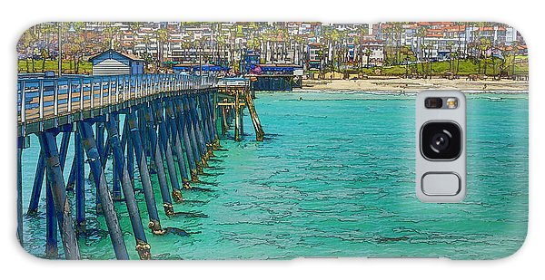 Galaxy Case featuring the photograph San Clemente Pier by Joan Carroll