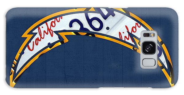 Sport Art Galaxy Case - San Diego Chargers Football Team Retro Logo California License Plate Art by Design Turnpike