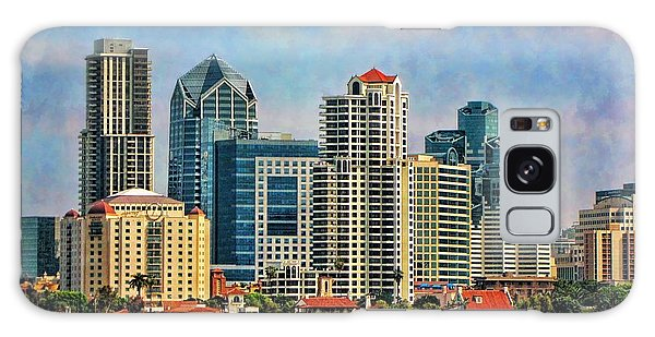 San Diego Skyline Galaxy Case by Peggy Hughes