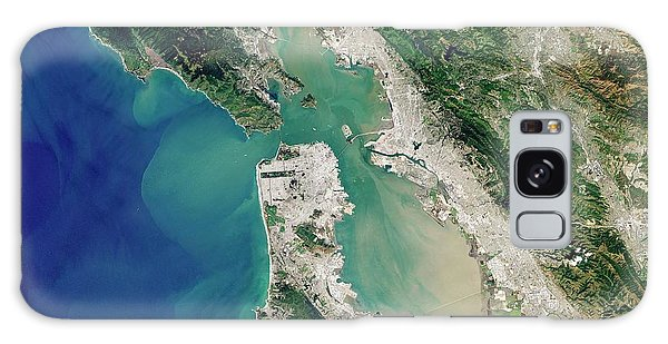 West Bay Galaxy Case - San Francisco Bay by Jesse Allen And Robert Simmon/u.s. Geological Survey/nasa