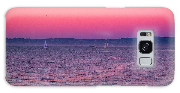 San Francisco Bay Sailing At Dusk Galaxy Case