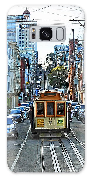 San Francisco Cable Car To Powell And Market Streets Galaxy Case by Artist and Photographer Laura Wrede