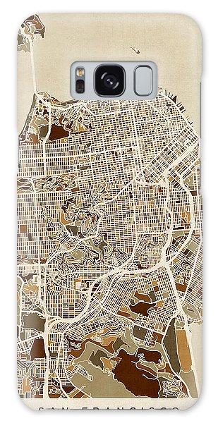 City Map Galaxy Case - San Francisco City Street Map by Michael Tompsett