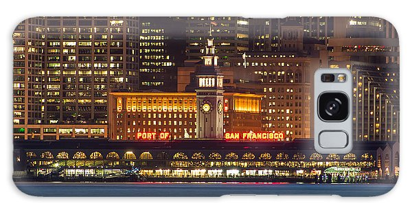 San Francisco Ferry Building At Night.  Galaxy Case