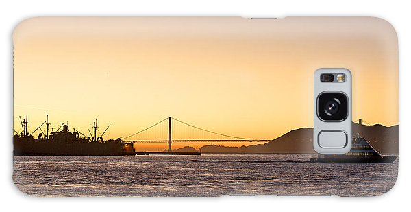 San Francisco Harbor Golden Gate Bridge At Sunset Galaxy Case by Artist and Photographer Laura Wrede
