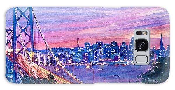 Scenery Galaxy Case - San Francisco Nights by David Lloyd Glover