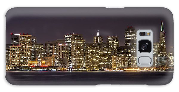 San Francisco Nighttime Skyline 1 Galaxy Case