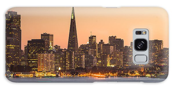 San Francisco Skyline Late Evening Galaxy Case