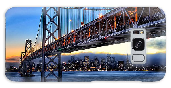 San Francisco Skyline Under The Bay Bridge Galaxy Case