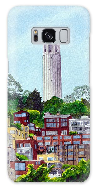 San Francisco's Coit Tower Galaxy Case