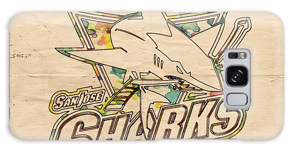 Sharks Galaxy Case - San Jose Sharks Vintage Poster by Florian Rodarte