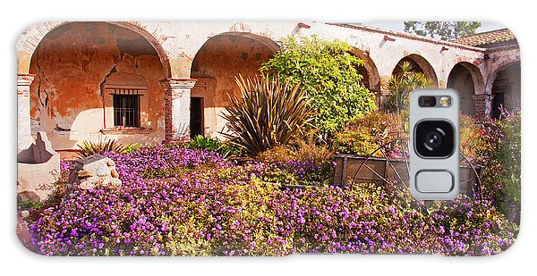 San Juan Capistrano Mission Flower Garden Galaxy Case by A Gurmankin