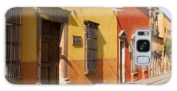 San Miguel Street Mexico Galaxy Case by John  Mitchell