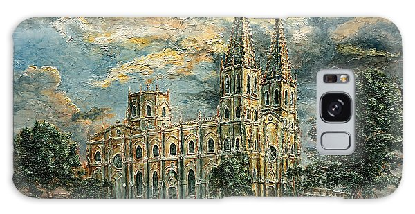 San Sebastian Church 1800s Galaxy Case by Joey Agbayani