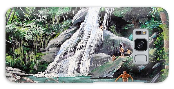 San Sebastian Waterfall Galaxy Case