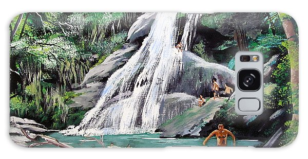 San Sebastian Waterfall Galaxy Case by Luis F Rodriguez
