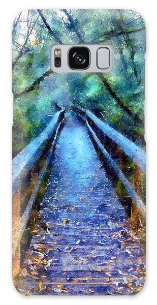 San Simeon Foot Bridge Galaxy Case