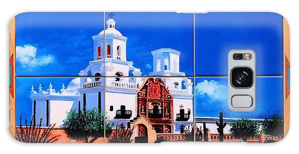 San Xavier Mission Tile Mural Galaxy Case by M Diane Bonaparte