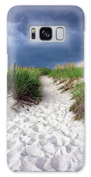 Sand Dune Under Storm Galaxy Case