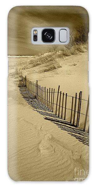 Sand Dunes And Fence Galaxy Case