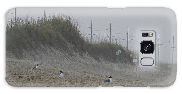 Sand Dunes And Seagulls Galaxy Case by Cathy Lindsey