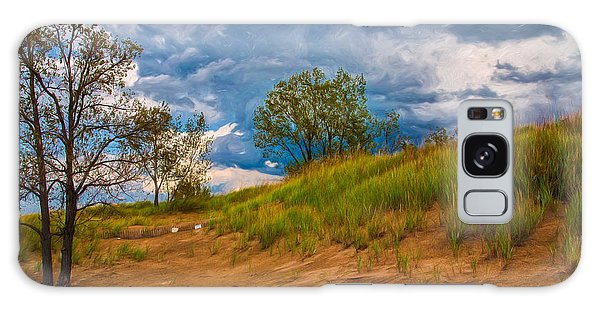 Sand Dunes At Indian Dunes National Lakeshore Galaxy Case