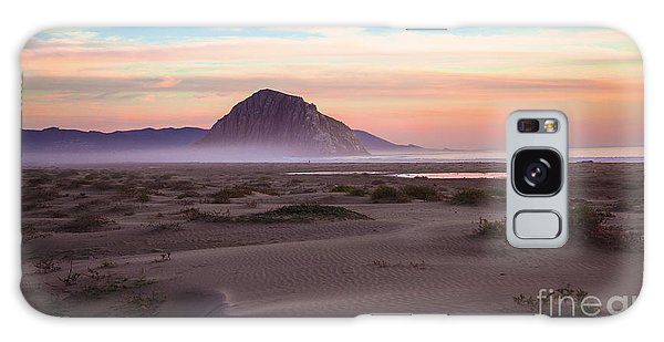 Sand Dunes At Sunset At Morro Bay Beach Shoreline  Galaxy Case