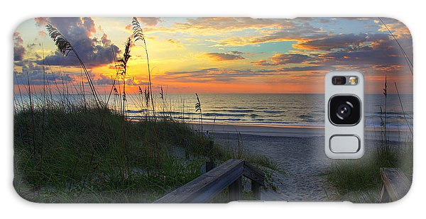 Sand Dunes On The Seashore At Sunrise - Carolina Beach Nc Galaxy Case