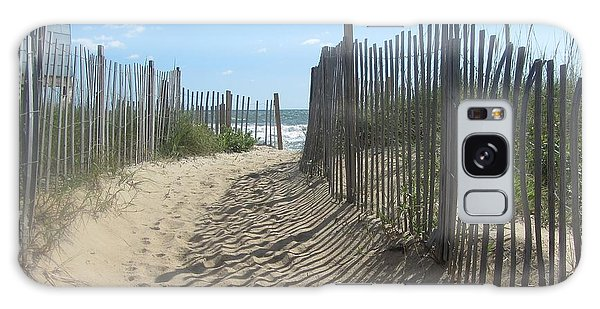 Sand Fence At Southern Shores  Galaxy Case