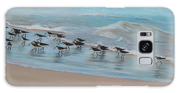 Sand Piper On Parade Galaxy Case